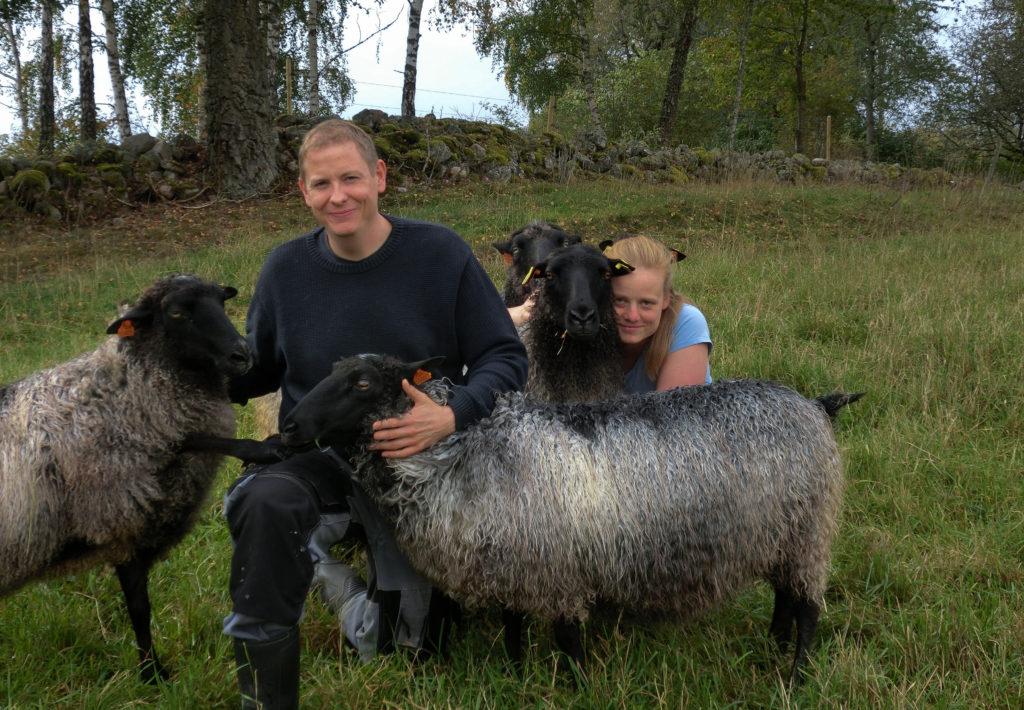 Mattias, Jessica och fåren