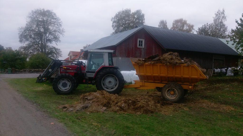 Lånad dumper (men faktiskt egen traktor)